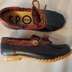 Sporto Aroostic Women's Duck Rain Boots Navy Red